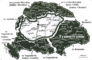 I.Territories ceded to Hungary's successor states as a result of the Trianon peace treaty.