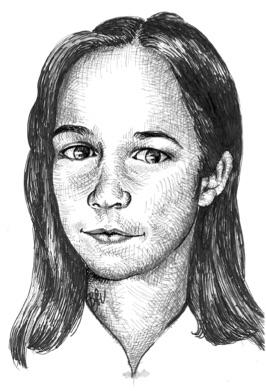 DorottyaSziráki at age 15 (Drawing by Andrea Veronika Benkő)