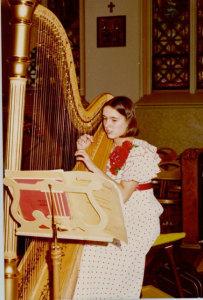 June Wachtler, at age 14, playing at the High Mass celebrated by Cardinal József Mindszenty at St. Stephen's R.C. Magyar Church, Passaic, NJ 1974
